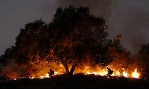 Firefighting in Santa Barbara County in December 2017.