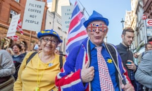 People's March for Brexit Vote, London, UK - 20 Oct 2018