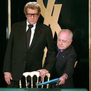 Yves Saint-Laurent with Pierre Bergé
