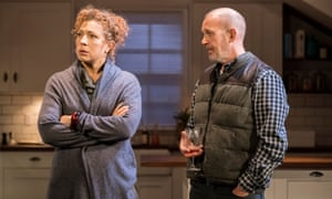 'Some of my best friends are white' ... Alex Kingston and Andrew Woodall in Admissions.