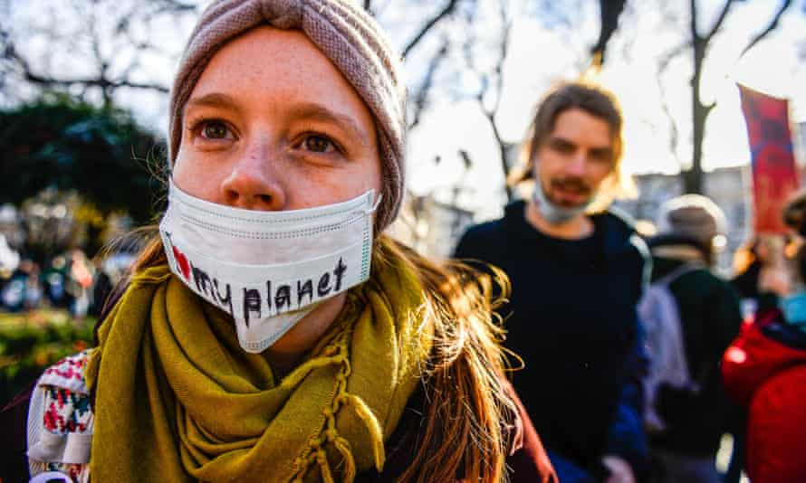 The March for Climate in Katowice, Poland.