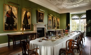 The Long Dining Room at Auckland Castle, which has been dressed for one of Bishop Trevor's dinner parties.