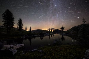 Flash Point The Perseid Meteor Shower shoots across the sky in the early hours of August 13, 2015, appearing to cascade from Mount Shasta in California, USA. The composite image features roughly 65 meteors captured by the photographer between 12:30am and 4:30am.