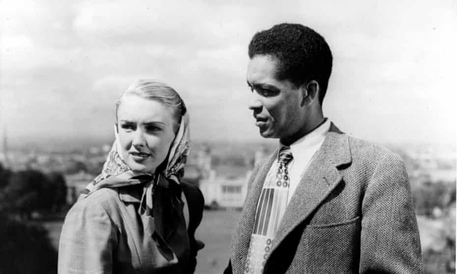 'The first British film to show a mixed-race relationship' … Cameron with Susan Shaw in 1951's Pool of London.