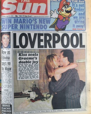 The Sun's story about Graeme Souness and his new girlfriend ran on the third anniversary of Hillsborough.