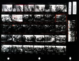 Leonard Freed's contact sheet of Martin Luther King in Baltimore, 1963