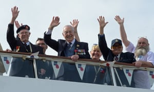 Veterans of the D-day landings arrive in Poole harbour