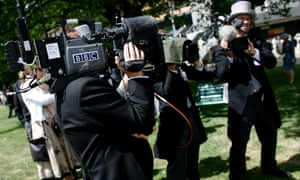 A BBC cameraman filming at Royal Ascot back in 2006.