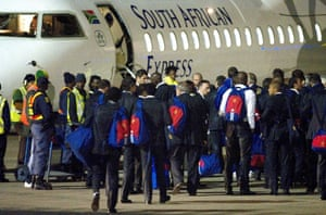 France team leave South Africa after being knocked out.