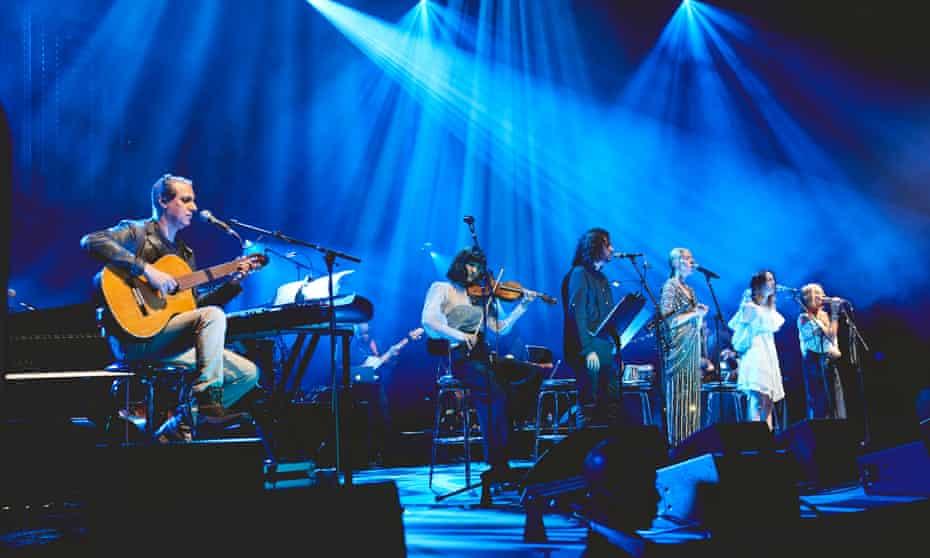 Nitin Sawhney performing his album Beyond Skin at London's Royal Albert Hall in 2019.