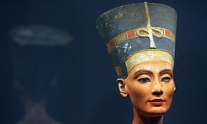 The bust of Queen Nefertiti of Egypt