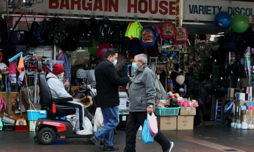 Shoppers at a discount store in Sydney's Fairfield area on 9 July.