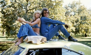Susan George and Peter Fonda in Dirty Mary Crazy Larry, 1974
