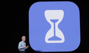 A demonstration of the 'Screen Time' app, which was launched at Apple's developer conference in California.