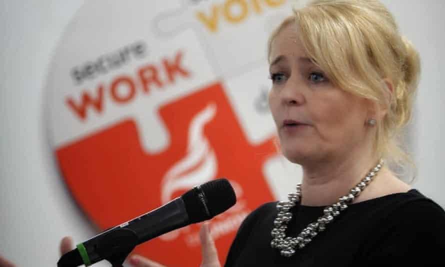 Sharon Graham, the new general secretary of Unite.