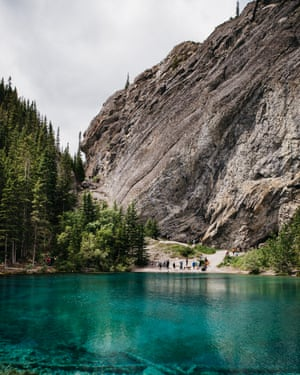 The Grassi Lakes near Canmore.