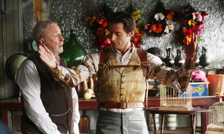 With Hugh Jackman in The Prestige.