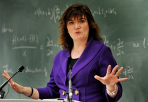 Education secretary Nicky Morgan launches the white paper in London on Thursday.