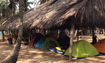 Tents at the makeshift camp