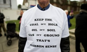 An activist at an anti-fracking rally