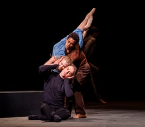 Marcelino Sambé, Lauren Cuthbertson and Matthew Ball in Cathy Marston's The Cellist.