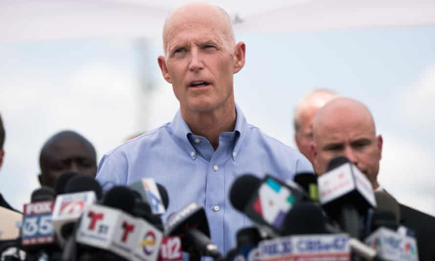 """'He was afraid that saying """"gay"""" would harm him politically' … Florida governor Rick Scott, whose reaction to the massacre angered Patty Sheehan."""