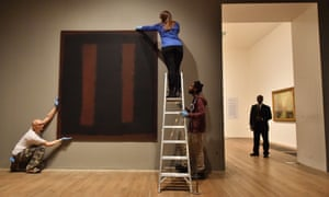 Denied to the rich … Rothko's Black on Maroon at the Tate Modern, originally part of the Four Seasons commission.