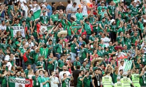 Mexico fans saw their team record a famous victory against Germany on Sunday.