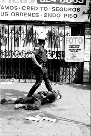 This was in the aftermath of a May Day demonstration downtown Los Angeles, May 1, 1982.