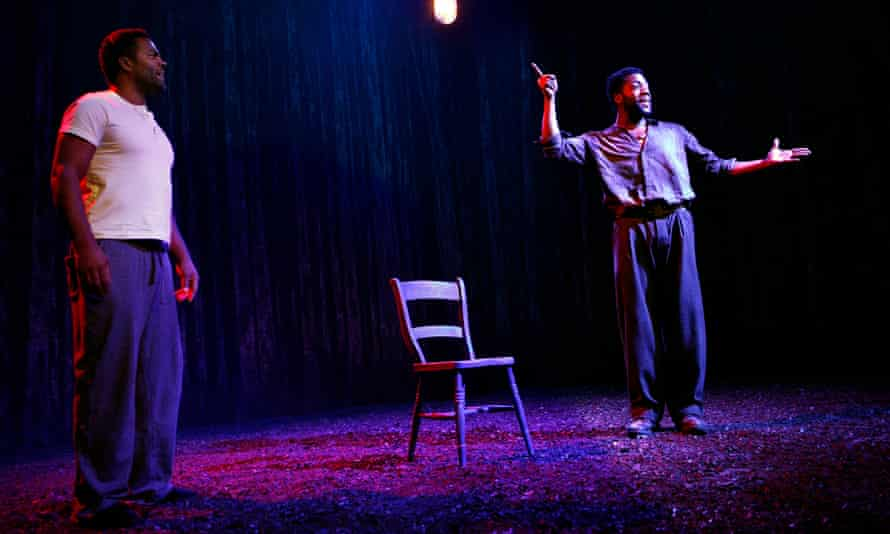 Throwing light on a prescient debate … Ray Fearon, left, and Fehinti Balogun in Blue Door.