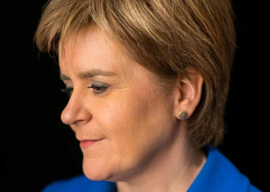 Nicola Sturgeon, leader of the Scottish National Party and first minister of the Scottish parliament.