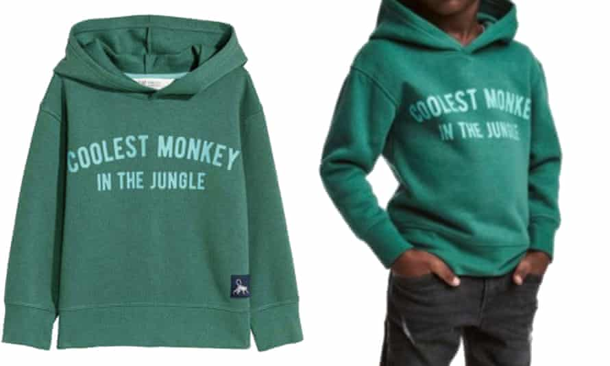 H&M advert for the green hoodie. Some have called for a boycott of the retailer.