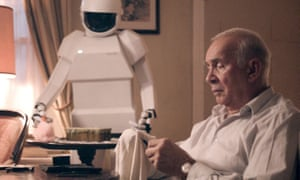 Frank Langella as a retired jewel thief with his robot butler in Robot And Frank.