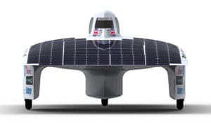 Lovegrove's solar car prototype.