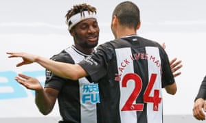 Steve Bruce believes Allan Saint-Maximin (left) and Miguel Almirón can cause Manchester City problems in the FA Cup quarter-final.