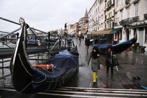 Stranded gondolas on the Riva degli Schiavoni