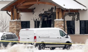 The damaged entrance of the Planned Parenthood clinic in Colorado Springs on Saturday.