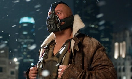 Tom Hardy in The Dark Knight Rises.