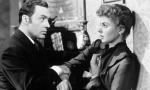 Charles Boyer and Ingrid Bergman in Gaslight.