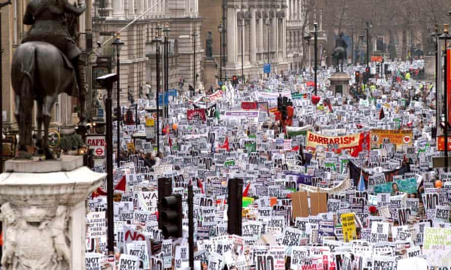 ANTI WAR ON IRAQ DEMONSTRATION, LONDON, BRITAIN - 15 FEB 2003