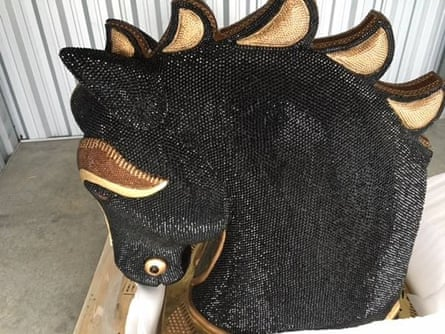 A record-breaking amount of cocaine has been seized after officers became suspicious of the diamante-encrusted horse head.