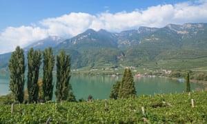 Lake Caldaro,South Tyrol,Italy.