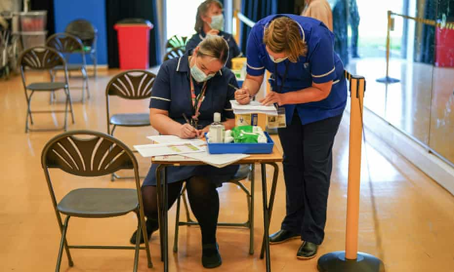 Medical staff in England preparing to receive secondary school pupils for Covid-19 vaccinations this September