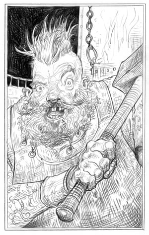 Hammersmith from Chris Riddell's illustrated edition of Neil Gaiman's Neverwhere
