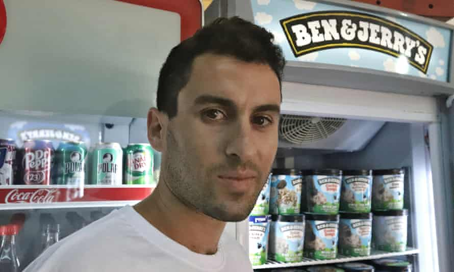 Asher Goodman, 29 runs Pizzeria Efrat, an American style pizzeria in Efret, West Bank. His late father first brought Ben & Jerry's ice cream to the settlement from New York 30 years ago.
