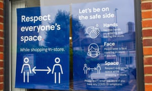 A social distancing sign in Windsor as UK daily cases hit nearly 40,000.