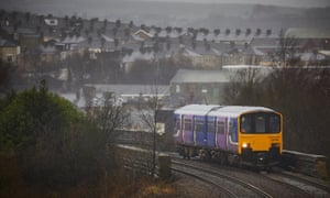 Northern train in Lancashire.