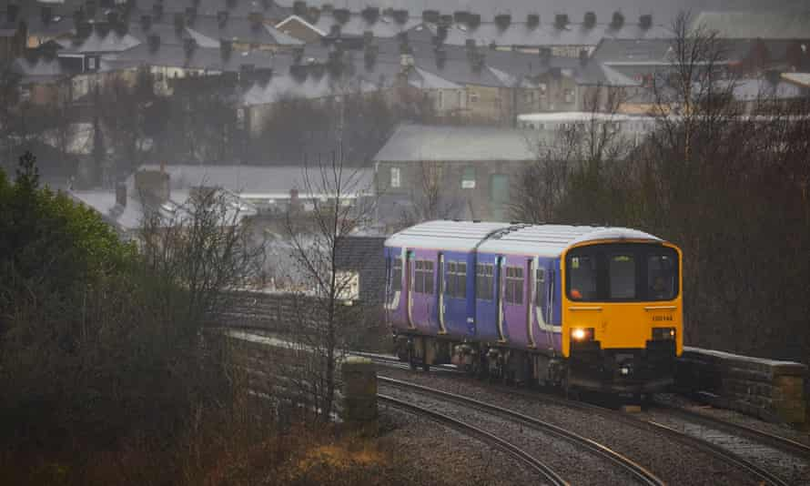 A Northern Rail train in Accrington, Lancashire