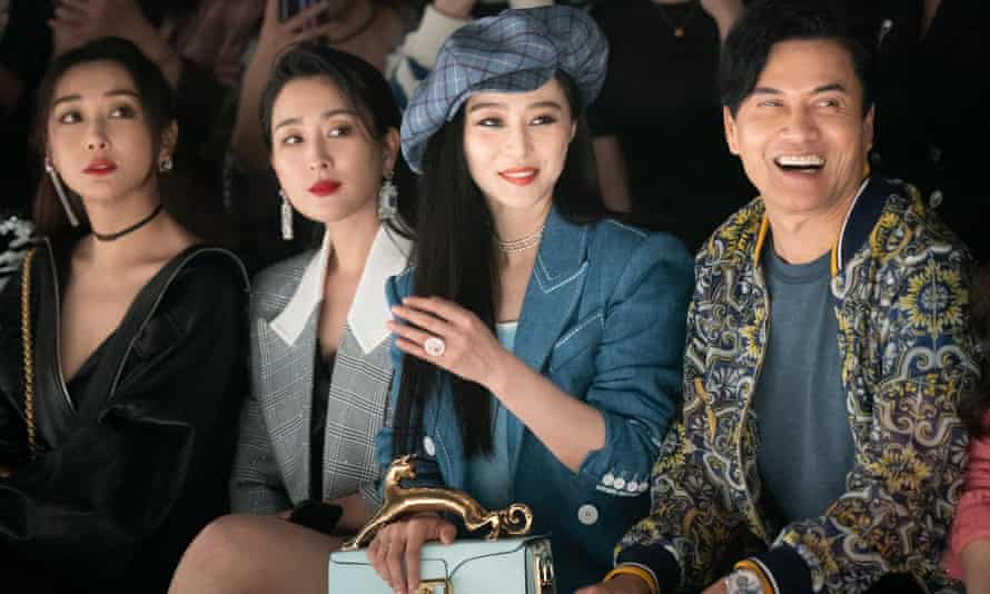 The actors Ma Su, Fan Bingbing and Ray Lui at the Zhang Shuai show in Shanghai, October 2020.
