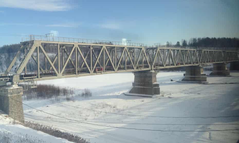 A bridge on the Trans Siberian Railway